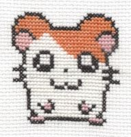 Hamtaro cross stitch by Lil-Samuu