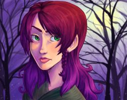 Face in the woods by lainchan