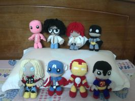 All of my sackboy dolls so far :) by NVkatherine