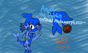 Aqua the Dolphin ~Final Metamorphosis~ by EvoDeus