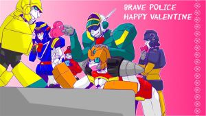 Vt'day with BRAVE POLICE by sawara-b