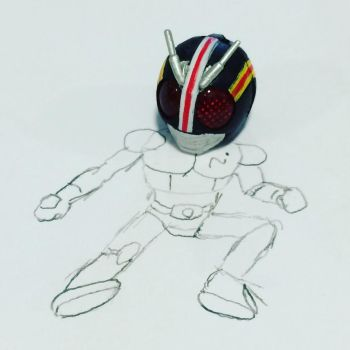 Kamen rider black pencil to reality by CaptainComix