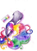 Painting my Hair by RaPoSa7