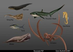 Sea Creatures PSP by genci