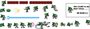 Duke The Hedgehog Sprite Sheet by DukeDN