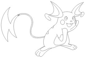 line raichu ms paint by lossetta932