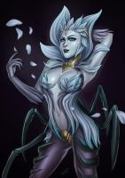 Death Blossom Elise fanart (LoL) by the-essential-squid