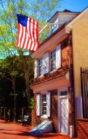 Betsy Ross house in Philly by raverqueenage