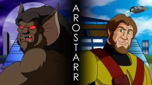GEP Wallpaper - Arostarr : The Man and the Monster by BennytheBeast