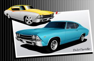 Dad's Chevelle by kenpoist