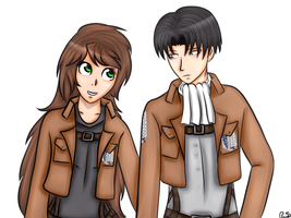 Art Trade for CaitlinAckerman-Aot by Pexxastar