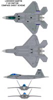 F-22 Raptor Compass Ghost by bagera3005