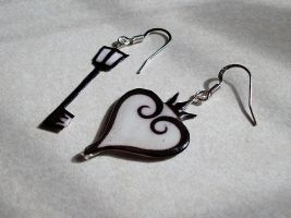Kingdom Hearts 10th Anniversary Earrings by BlueAndThru