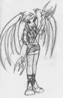 Evil Girl With Wings by blitzechidna
