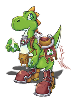 Yoshi: Battle Mount by CoronaDiTempesta