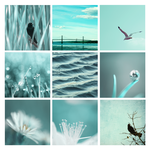 3x3 aqua nature photography by Aimelle