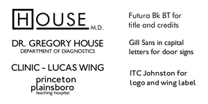 Fonts used in House by Pencilshade