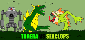 Togera vs Seaclops by Sci-fiman2xxx