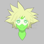 Peridot With Sora's Hair by MadAsThyHatter