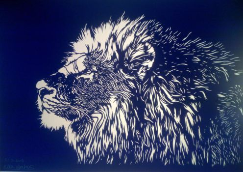 His majesty (paper cutting) by EllaBaras