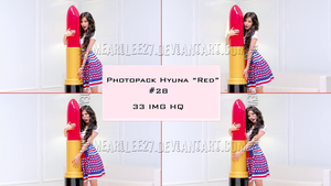 [Request] Photopack Hyuna Red #28 by mearilee27