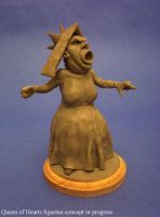 Queen of Hearts clay sketch by shaungent