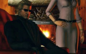 Wesker  and  Exella by WolfShadow14081990