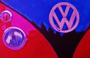 VW camper van colour pencil drawing by shirls-art