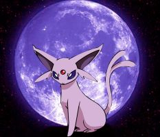 Espeon in a mystic night by laila549