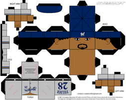 Prince Fielder Brewers Cubee by etchings13