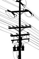Power Pole Silhouette by robert-kim-karen