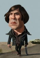 A Little Chigurh by markdraws