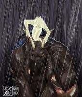 Wrath and Mageddon in the Rain by washipuppy