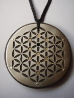 Flower of Life and Tree of Life Pendant by jeanburgers