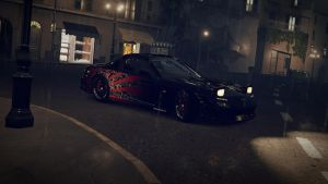 RX7 in the rain by ZombieBerlioz