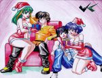 Commission: Ranma Christmas by jadenkaiba
