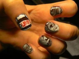 Nutella Nails for Cry XD by Gr8AndPowerfulAroura