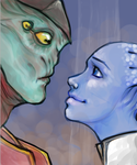 Liara is a fangirl by InvaderLi