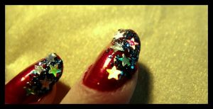 stars on nails by ladymonroe