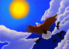 Soaring eagle. by NoviLunar
