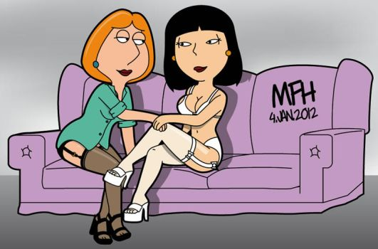 lois griffin nude on couch