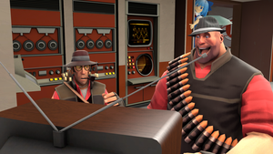 Heavy and Sniper watches TV by Spyisaspy12