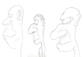 Side-view Faces by thelonefefe