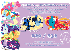 Pony Heads 2016 Commission Details by raygirl