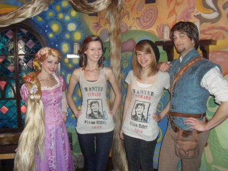 meeting flynn and rapunzel by colorized-happily