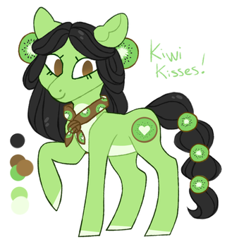 Earth Pony Auction {CLOSED} Kiwi Kisses by JellyBeanBullet