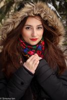 Winter portrait stock by simonamoonstock