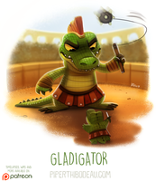 Daily Paint 1627. Gladigator by Cryptid-Creations