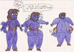 Violet Beauregarde the Cat's Blueberry Inflation 2 by Magic-Kristina-KW