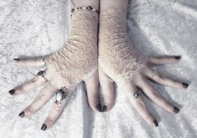 Idyll Lace Fingerless Gloves by ZenAndCoffee